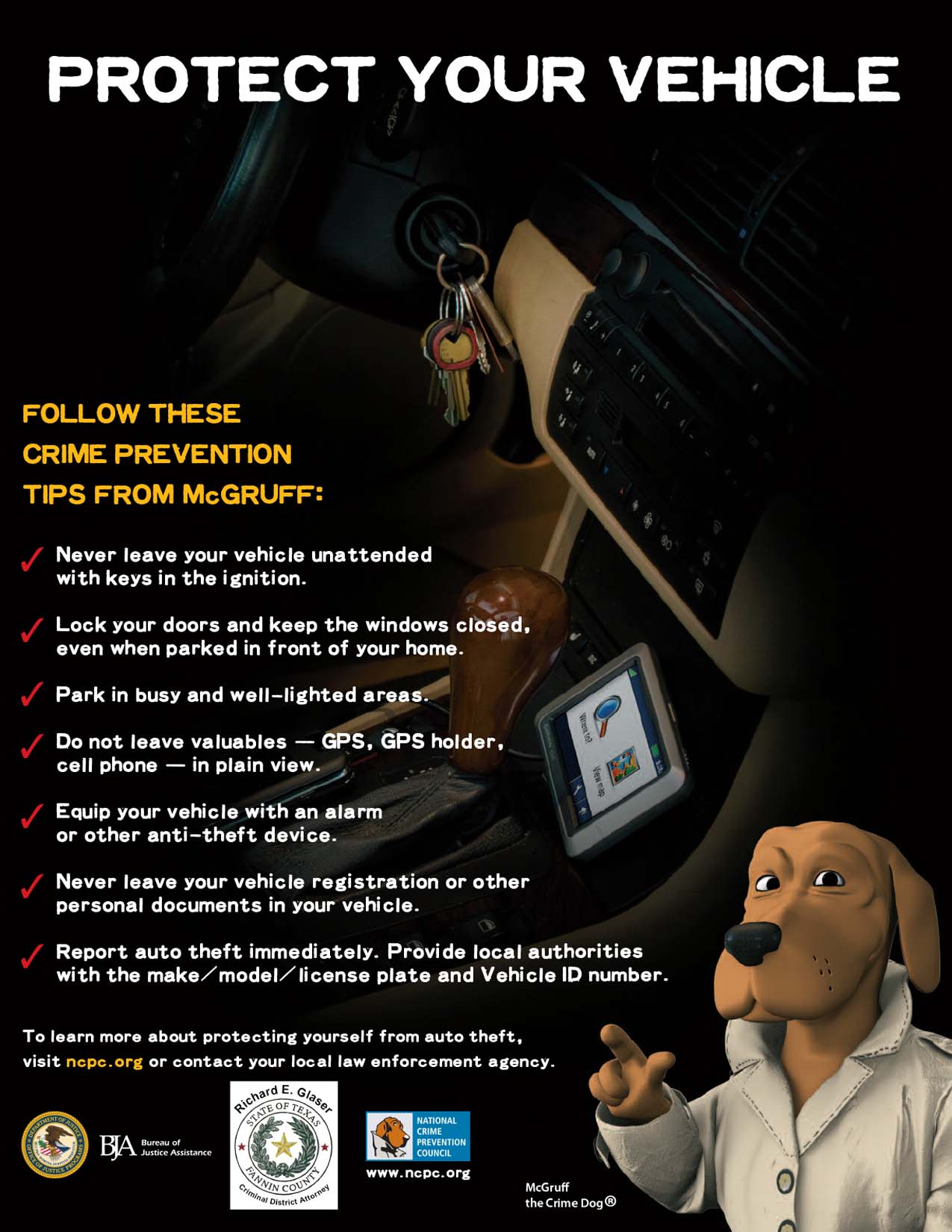Recent Vehicle Thefts in Bonham and Surrounding Areas: Protect your Vehicle / PROTEJA SU VEHÍCULO