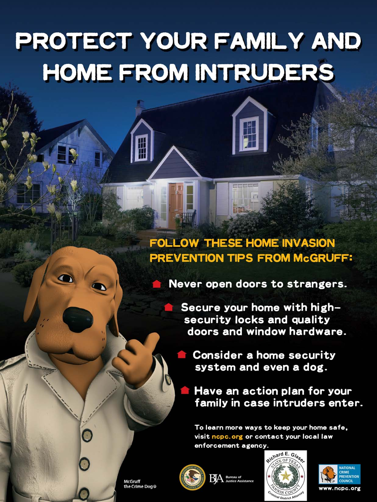 Protect Your Family And Home From Intruders / Proteja su Familia y su Hogar de Intrusos