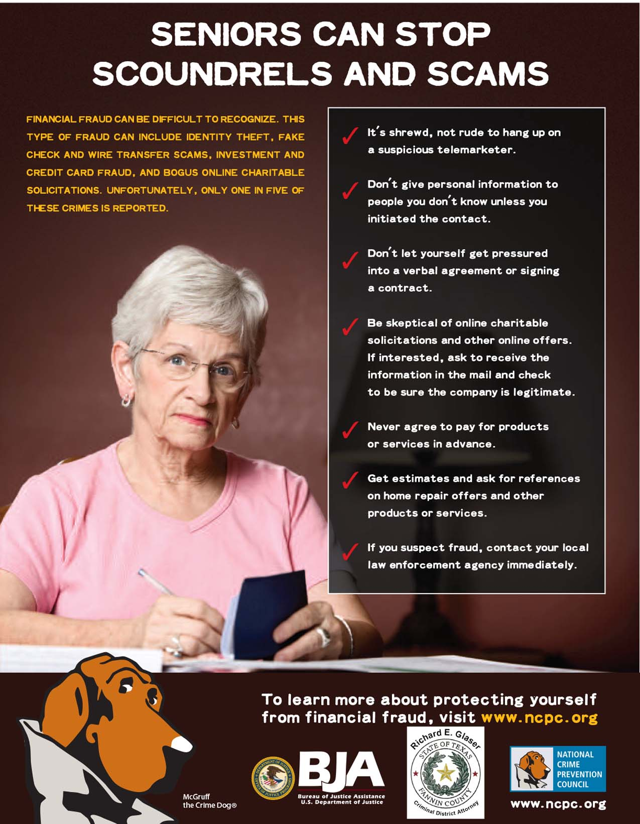 Seniors Can Stop Scoundrels and Scams