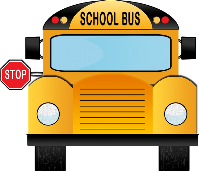"""Stop Sign shown away from the bus - """"stop"""" means """"stop"""""""