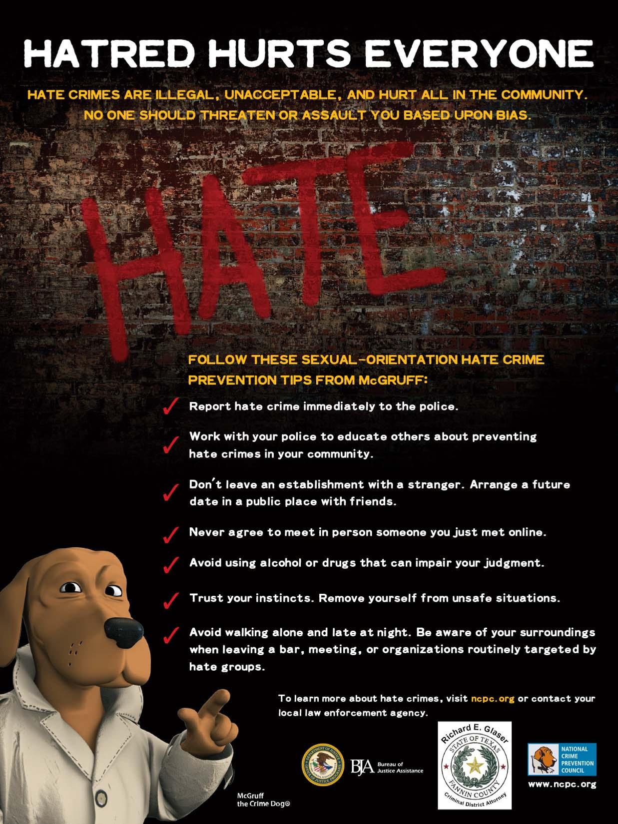 Hatred Hurts Everyone -- EL ODIO PERJUDICA A TODOS