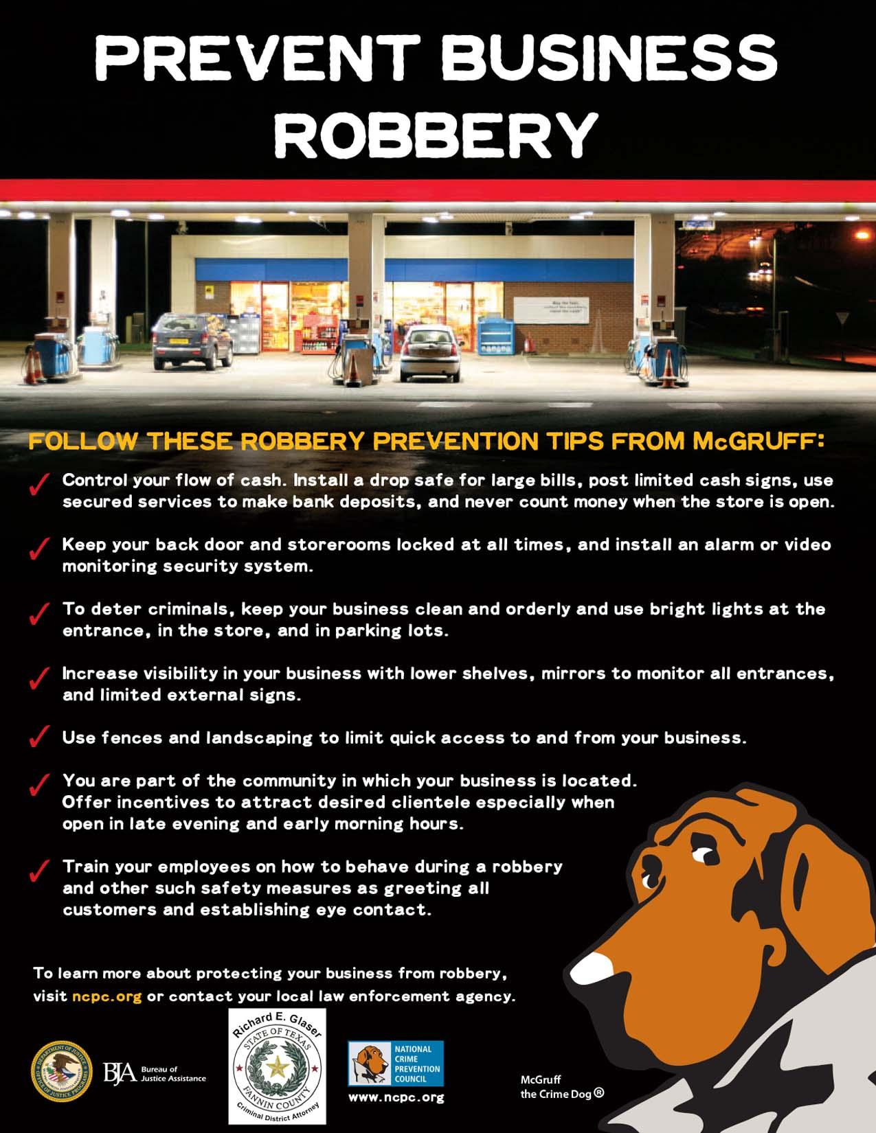 Prevent Business Robbery -- PREVENIR EL ROBO EN LOS NEGOCIOS