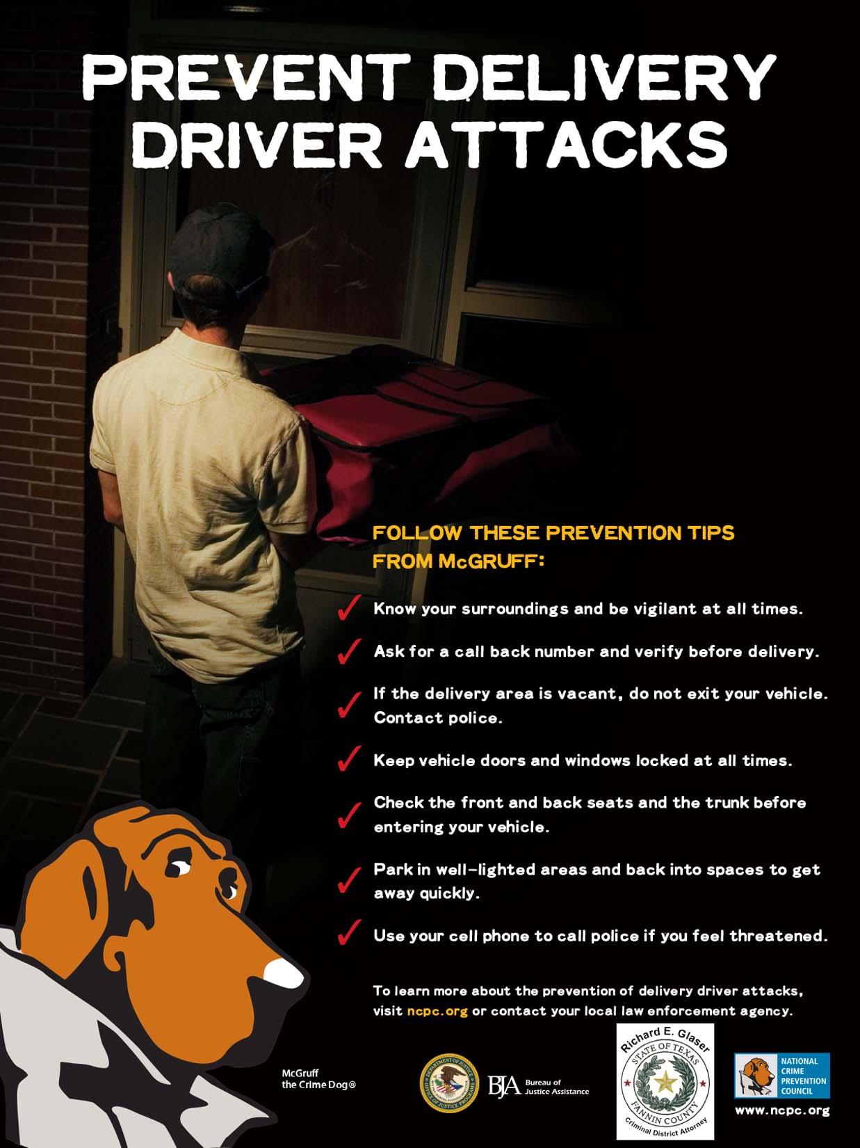 Prevent Delivery Attacks -- SI TRABAJA COMO REPARTIDOR, NO SE CONVIERTA EN VÍCTIMA