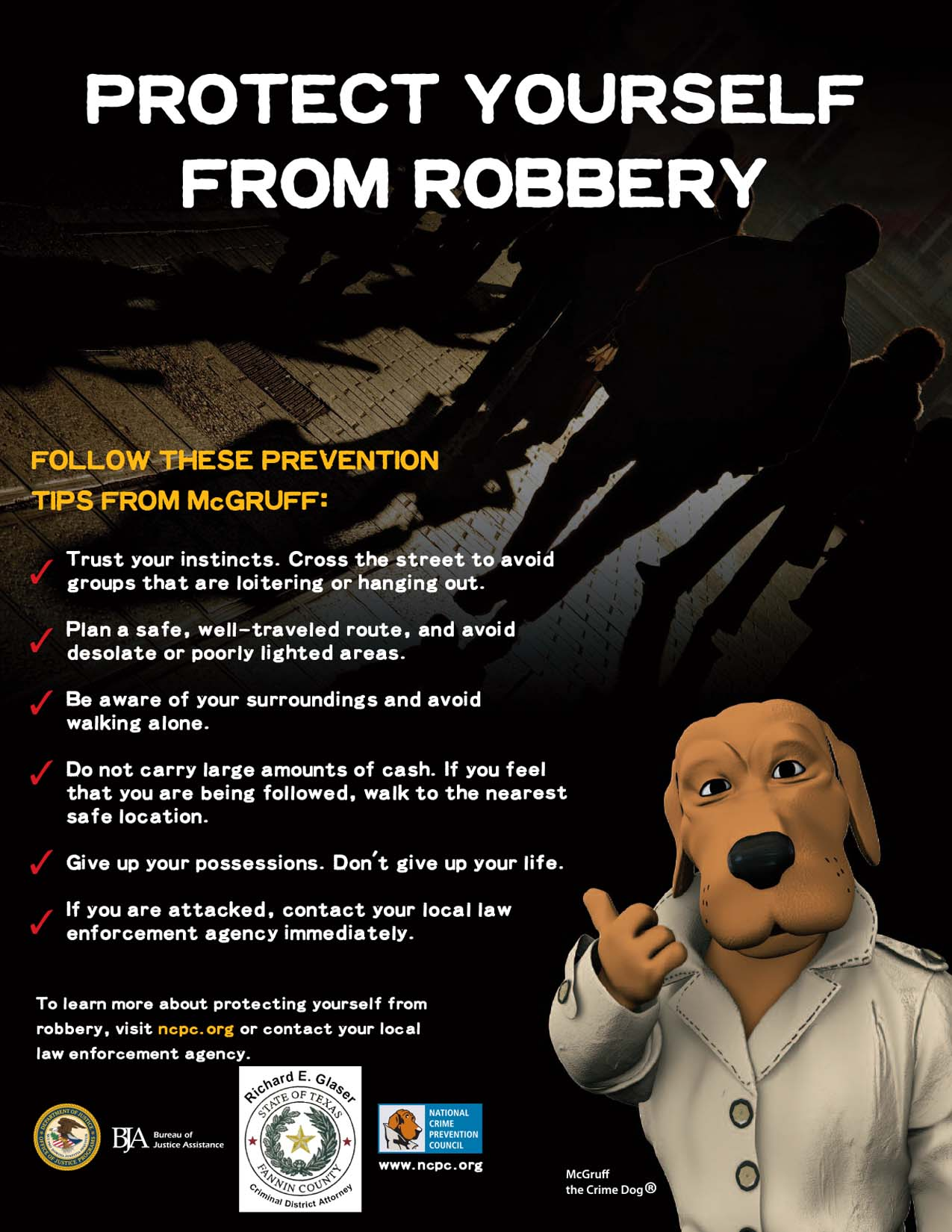 Protect yourself from Robbery -- PROTÉJASE DEL ROBO