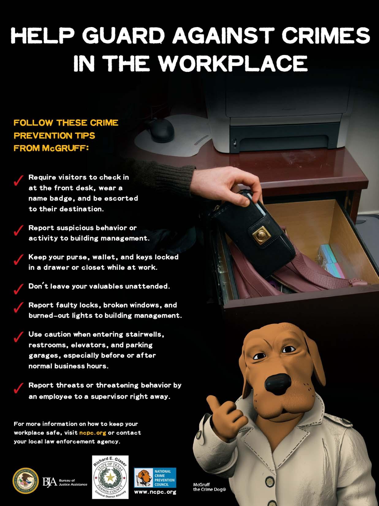 Workplace Crime -- CRÍMENES EN EL LUGAR DE TRABAJO